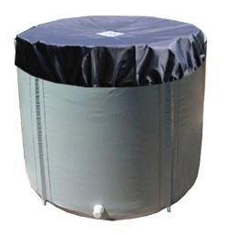 Складная ёмкость для воды Чудо-бочка для воды из ПВХ 2000л (с верхним каркасом и крышкой) - фото 5235