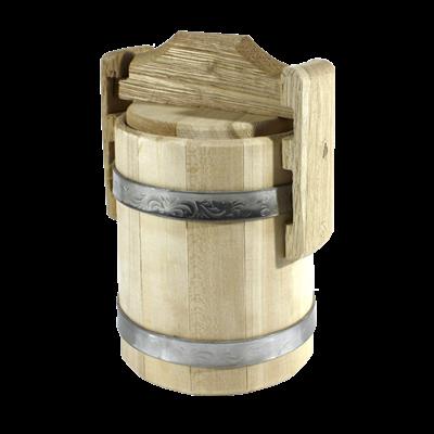Кадка липовая для меда 0,5л - фото 6297