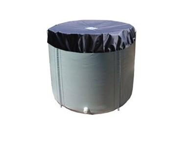 Складная ёмкость для воды Чудо-бочка для воды из ПВХ 100л (с верхним каркасом и крышкой) - фото 6971