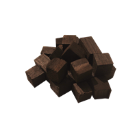 Дубовые кубики 350г (сильный обжиг)