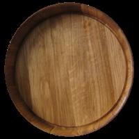 Поднос дубовый Ø 420 мм