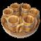 Набор пивной 6 кружек дубовый - фото 6774