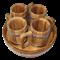 Набор пивной 4 кружки дубовые - фото 6782